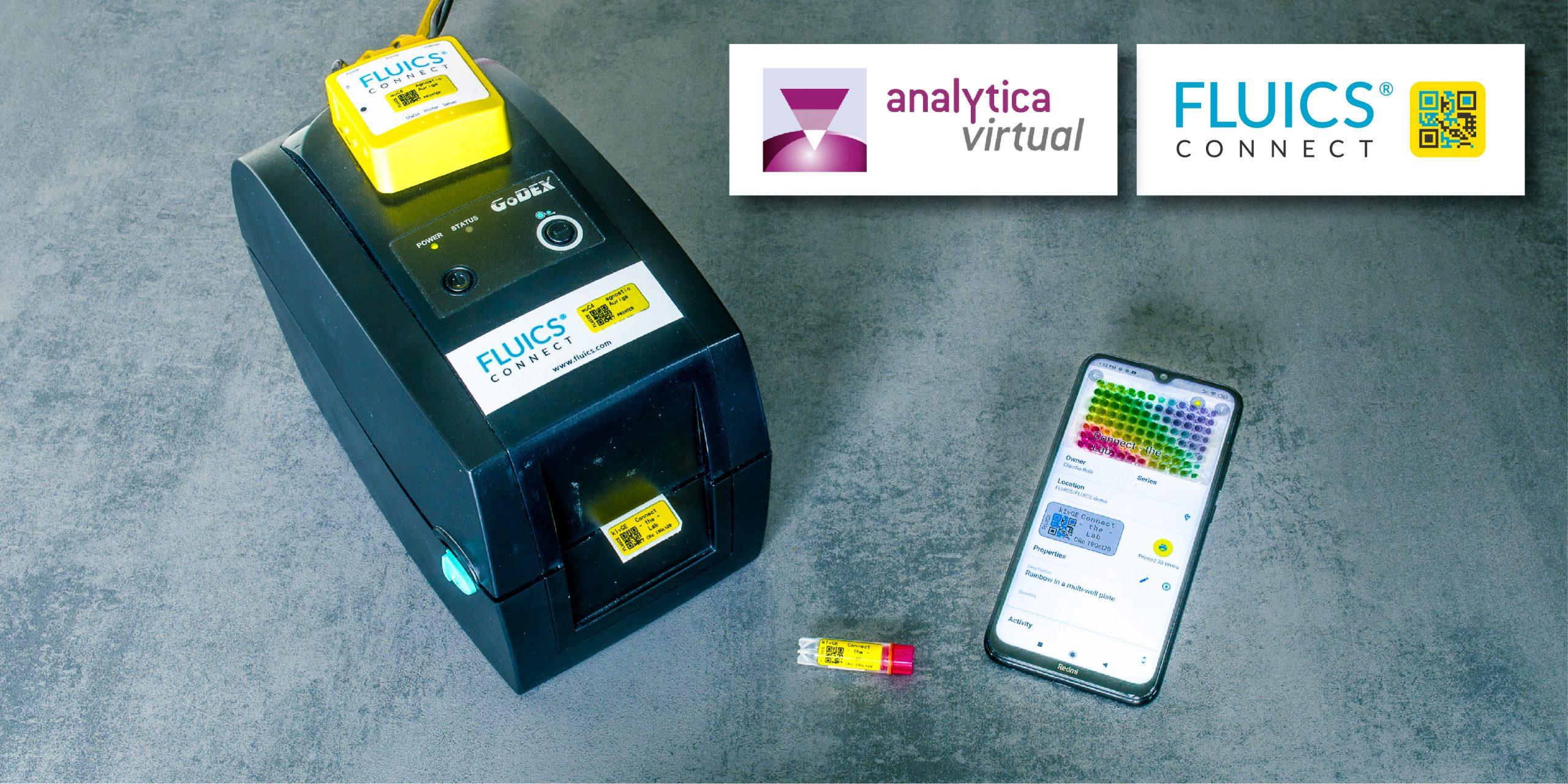 label printer with smartphone and cryo tube